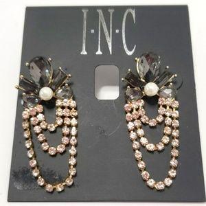 《INC》Dangle Earrings Gold Silver Preppy Chic Pearl